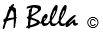 A BELLA C FONT
